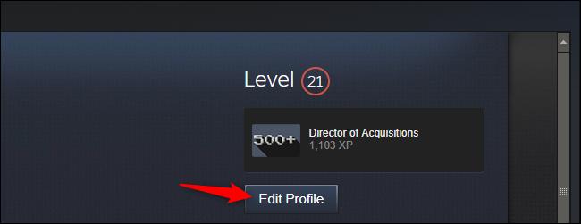 Modifier votre profil dans Steam