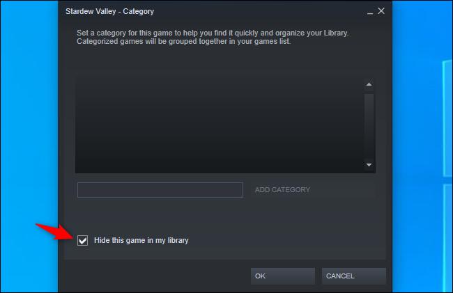Masquer un jeu de votre bibliothèque Steam