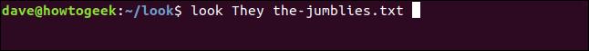 """""""regardez Ils les-jumblies.txt"""" dans une fenêtre de terminal."""