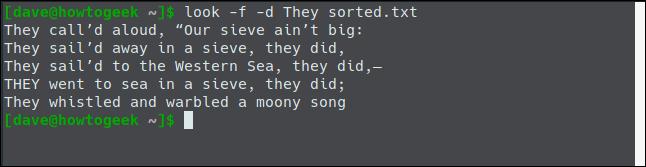 sort -f -d the-jumblies.txt -o sorted.txt dans une fenêtre de terminal.