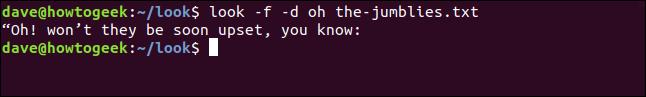 """Sortie de """"regarde -f -d oh les-jumblies.txt"""" dans une fenêtre de terminal."""