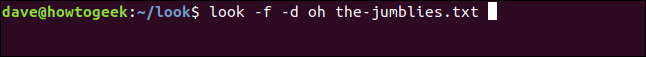 regardez -f -d oh the-jumblies.txt dans une fenêtre de terminal.