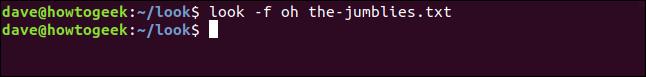regardez -f oh the-jumblies.txt dans une fenêtre de terminal.