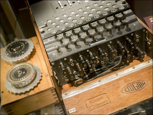 Une machine énigmatique à Bletchley Park en Grande-Bretagne.