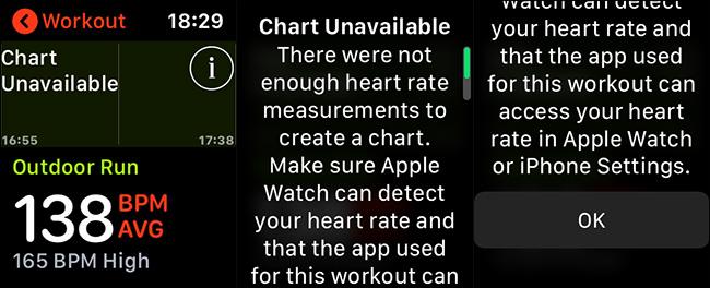Messages d'erreur de fréquence cardiaque de l'Apple Watch