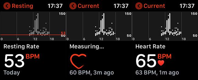 regarder la fréquence cardiaque