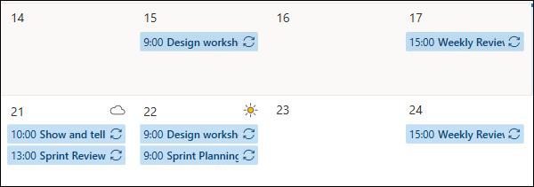 Rendez-vous du calendrier dans la couleur bleue par défaut.