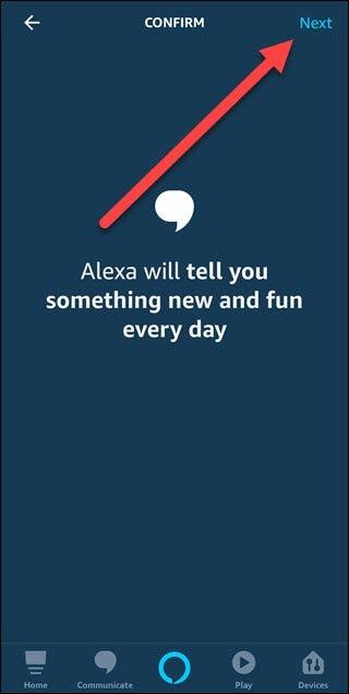 Bonjour, confirmez le dialogue avec la flèche pointant vers le bouton suivant.