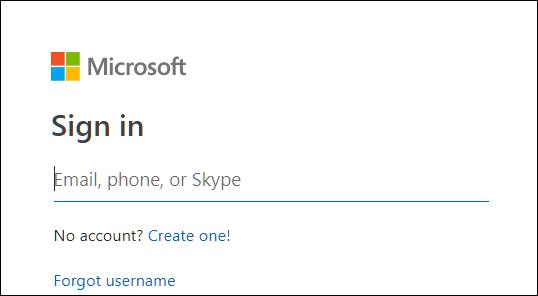 Page de connexion Outlook