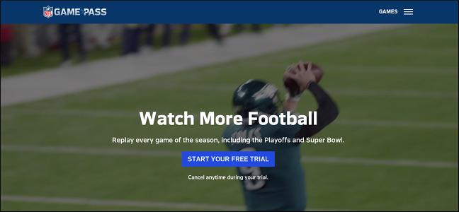 Capture d'écran du site Web Gamepass.