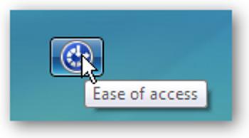 Désactiver le bouton d'ergonomie sur l'écran de connexion Vista