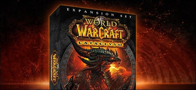 """le """"World of Warcraft: Cataclysme"""" coffret d'extension en ligne."""