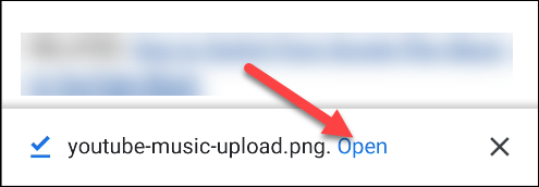 chrome pour android ouvrir l'image téléchargée