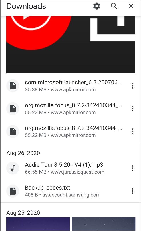 Chrome pour la page de téléchargement Android