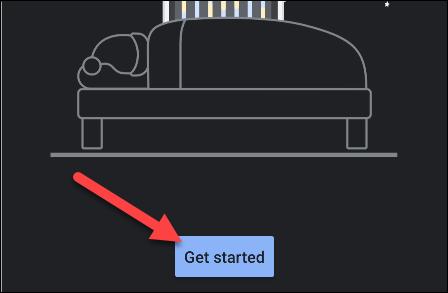 """Robinet """"Commencer"""" dans le """"Heure du coucher"""" app."""