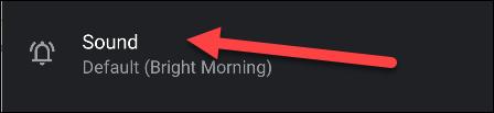 """Robinet """"Du son"""" pour en choisir un pour votre alarme."""