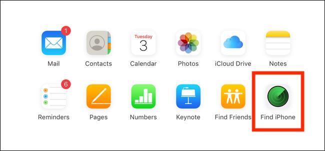 """Cliquez ou appuyez sur """"Trouvez l'iPhone."""""""