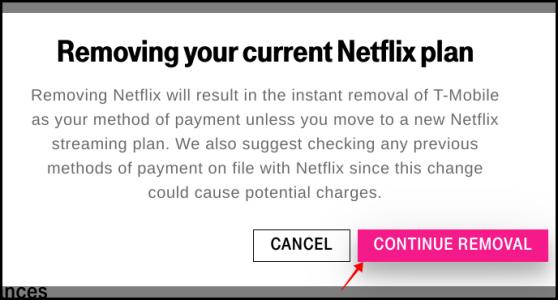 Annulation de T-Mobile Netflix