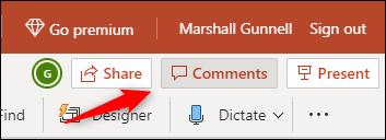 """Cliquez sur """"Commentaires."""""""