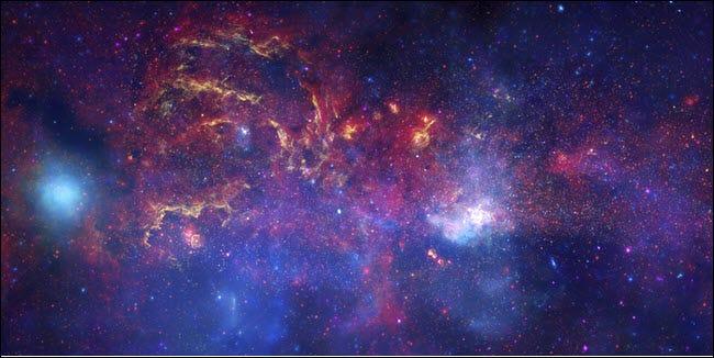 Une image de la Voie lactée, prise par les télescopes de la NASA