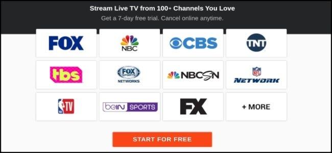 Options de chaîne fuboTV