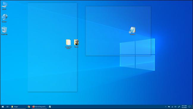 Aperçu du bureau Windows 10