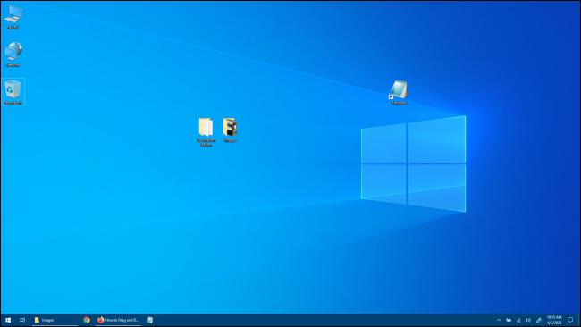 Bureau Windows 10 sans application Windows