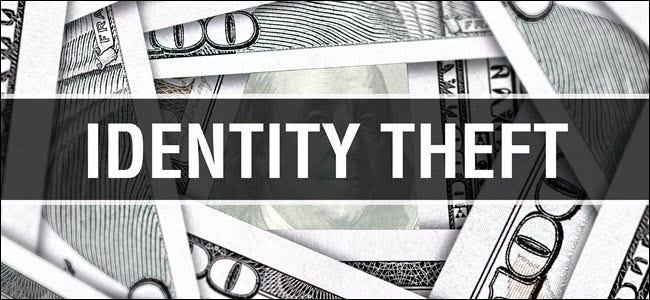 """Les mots """"Vol d'identité"""" plus de 100 $ de factures."""