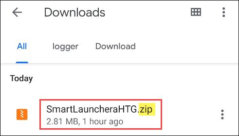 trouver le fichier ZIP