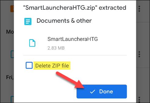 fin d'extraction du fichier