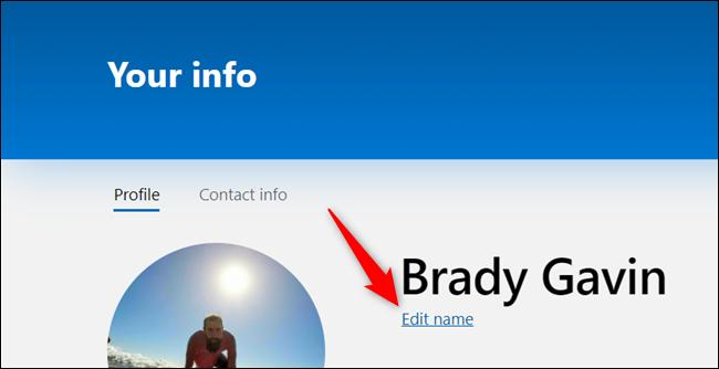 """Cliquez sur """"Modifier le nom."""""""