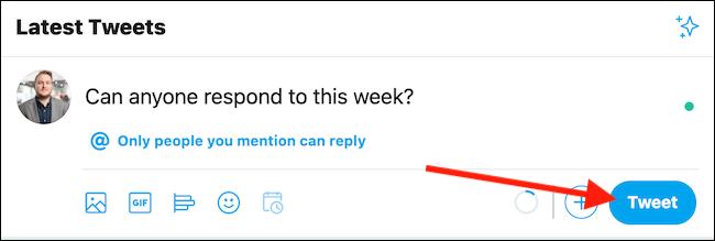 """Lorsque vous êtes prêt, cliquez sur le """"Tweet"""" bouton"""