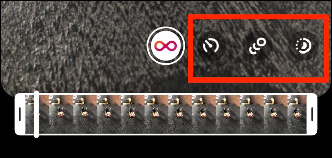 Faites glisser la barre d'outils pour explorer les effets Boomerang.