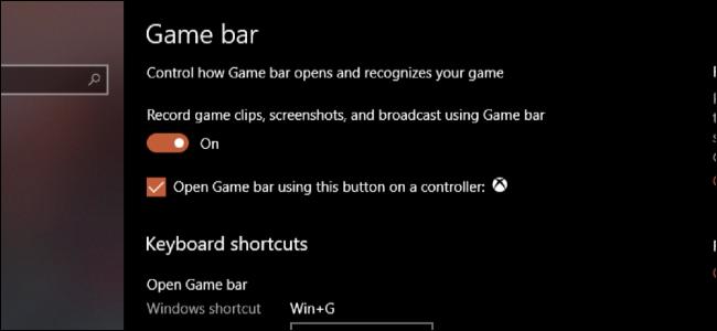 Barre de jeux Windows
