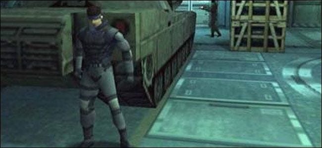 metal gear solide, playstation, graphiques, 3d,