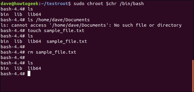 touchez sample_file.txt dans une fenêtre de terminal