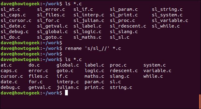 renommer 's / sl _ //' * .c dans une fenêtre de terminal