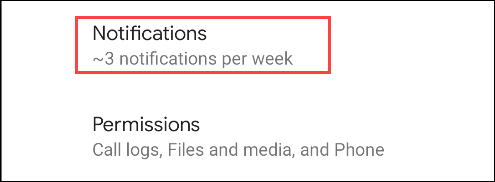 sélectionner les notifications