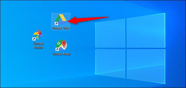 Double-cliquez sur l'icône Google Drive.