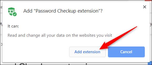 """Lisez les autorisations, puis cliquez sur """"Ajouter une extension."""""""