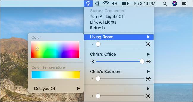Contrôle des lumières et des couleurs avec Colors for Hue.