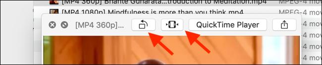 Cliquez sur le bouton Découper d'une vidéo en mode Quick Look