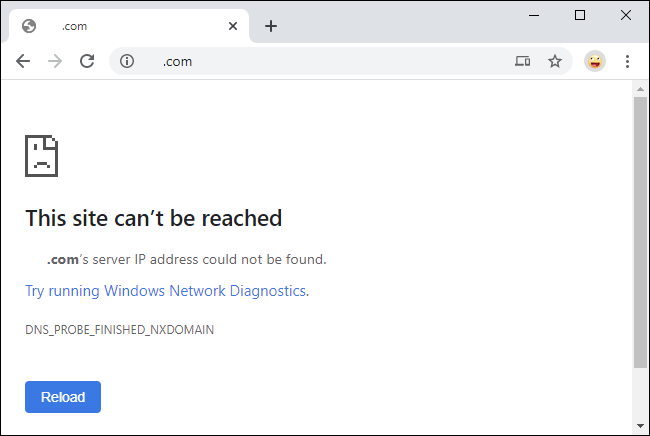 Erreur DNS Cloudflare après l'activation du contrôle parental.