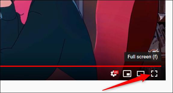 Activez le mode plein écran en cliquant sur l'icône plein écran.