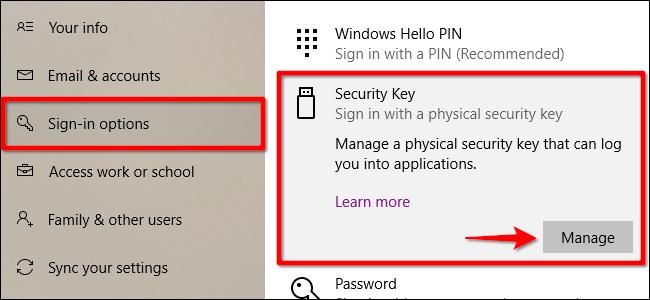 Windows 10 supprimer la clé de sécurité