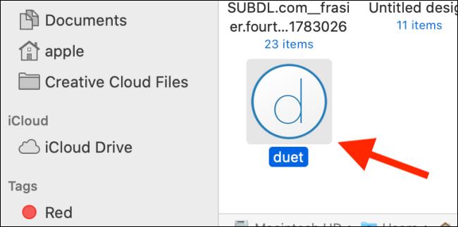 Double-cliquez sur l'icône Duet.