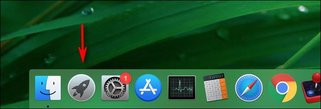 Cliquez sur Launchpad dans le dock de votre Mac pour le lancer.