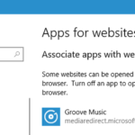 Fonctionnement des «Applications pour sites Web» dans Windows 10