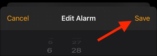 Enregistrez l'alarme personnalisée