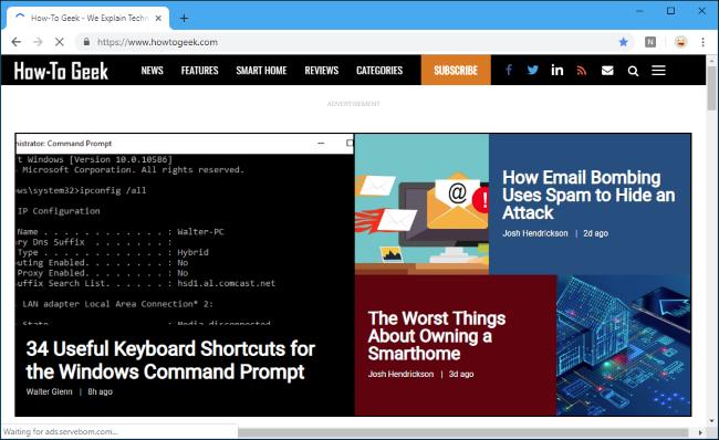 How-To Geek comme URL de page de nouvel onglet personnalisée dans Chrome